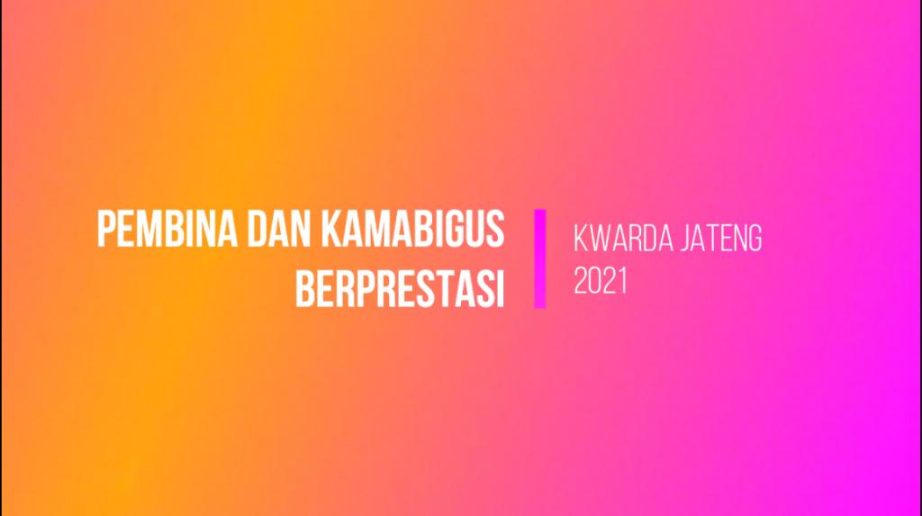 Pembina Berprestasi Golongan Penegak 2021 Kwarcab Purworejo